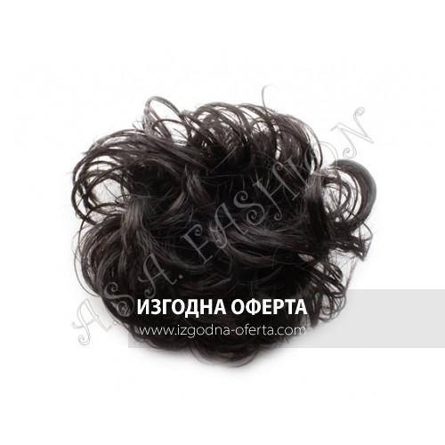 Небрежен кок от изкуствен косъм-03