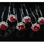 Луксозен фуркет с червена розичка  -06