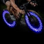 A08 LED светлини за гумите на велосипед 15 броя в син цвят