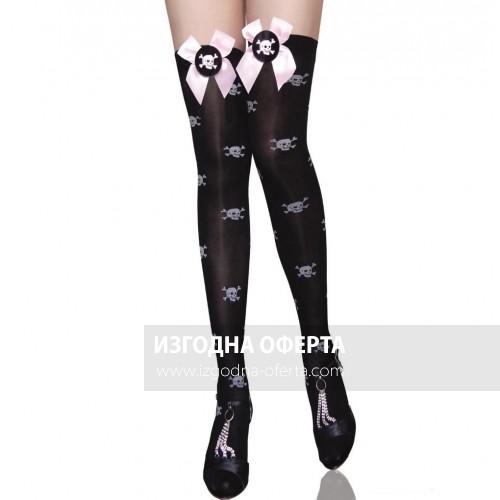 Екстравагантни чорапи за жартиери Fashion Stocines No:2079