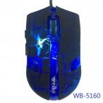 USB Оптична 6D геймърска мишка WB-5160 USB, Черен / Син