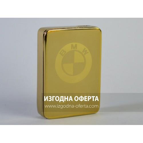 Метална ел. запалка BMW с вградена презареждаема батерия, в подаръчна кутия