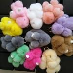 Ключодържатели от естествен косъм - зайче