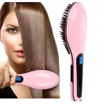 Ел. четка за изправяне на коса-розова