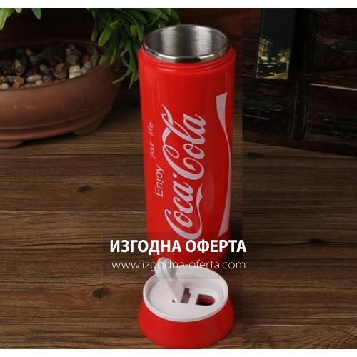 Термо чаша във формата на Coca Cola кен