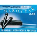 Комплект 2 броя безжични микрофони WVNGR C-05 HEROSTAR