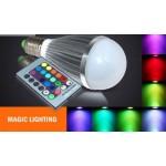 Магическа LED цветна лампа с дистанционно управление