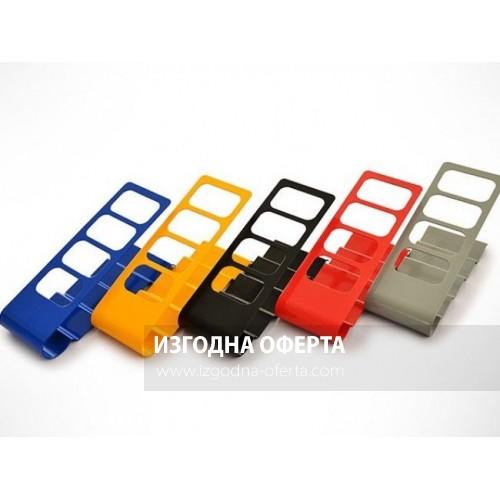 Компактна метална стойка-органайзер RED за 4 дистанционни