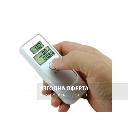 Алкохолен дрегер тип тестер с часовник, будилник и термометър