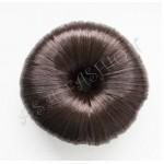 Кок от изкуствен косъм в тъмно кафяв цвят