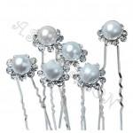 Луксозен фуркет с перла и кристали-17