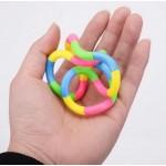 Антистрес играчка-фиджет змия, тангъл фиджет