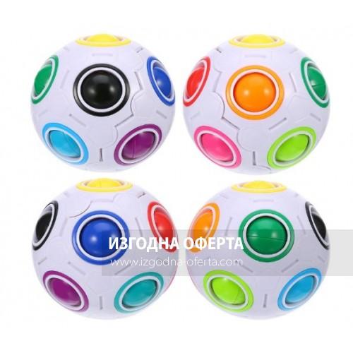 Fun Fidget Ball - пъзел във форма на футболна топка, антистрес играчка