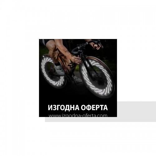 A08 LED светлини за гумите на велосипед 15 броя - бял