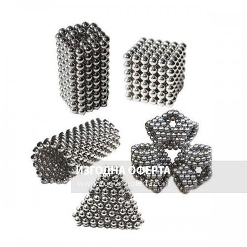 Магнитни сребърни топчета за игра