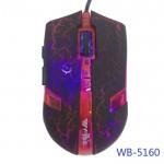 USB Оптична 6D геймърска мишка WB-5160 USB, Черен /Червен