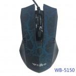 USB Оптична 6D геймърска мишка WB-5150 Yellow USB, Черен / Син