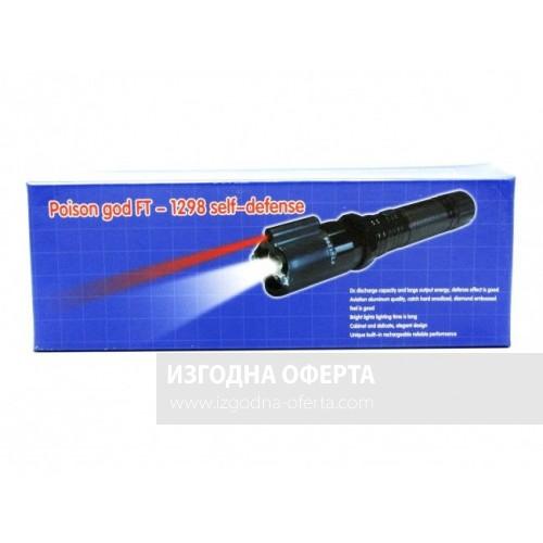 LED фенер с метално тяло Police 1800KW с електрошок и лазер