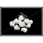 Красиви фуркети с бяла роза от органза-026