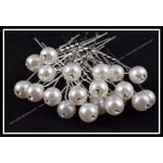 Луксозни Фуркети  за коса перла с кристалче -029