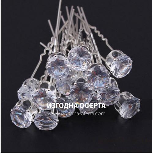 Луксозни фуркети с голям кристал-028