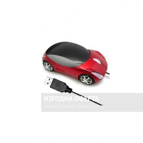 USB Мишка за компютър под формата на кола-червена