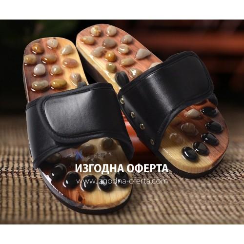 Масажни чехли с полускъпоценни камъни