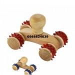 Ръчен дървен масажор -валяк