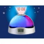 Лампа часовник прожектираща звезди и точен час на тавана