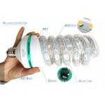 LED крушка 30W SPIRAL жълтеникава топла светлина,3000K, аналог на 250W крушка с жичка