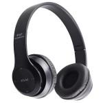 Безжични блутут слушалки OPEN P47, Stereo headphones, FM радио, MP3 player, Вграден микрофон, Micro SD вход, Черни