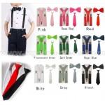 Мъжки и Детски Комплекти тиранти с вратовръзка / папионка